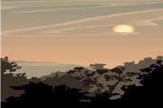 矢量夕阳风景素材13