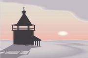 矢量夕阳风景素材18