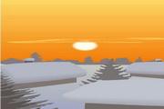 矢量夕阳风景素材20