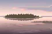 矢量夕阳风景素材21