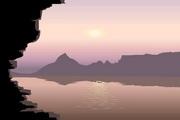 矢量夕阳风景素材23