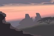 矢量夕阳风景素材25