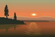 矢量夕阳风景素材26