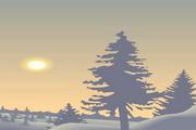 矢量夕阳风景素材27