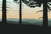 矢量夕阳风景素材28
