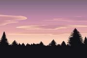 矢量夕阳风景素材29