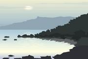 矢量夕阳风景素材31