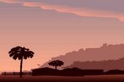 矢量夕阳风景素材41