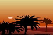 矢量夕阳风景素材42
