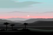 矢量夕阳风景素材45