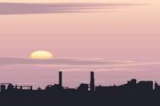 矢量夕阳风景素材48