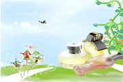 儿童护肤水PSD素材