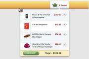 购物车弹出菜单界面psd设计素材