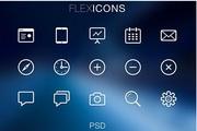 Flex ICONS图标设计psd素材