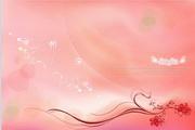 粉色花纹背景源文件素材