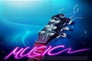 音乐海报背景源文件设计