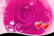 玫瑰浪漫背景psd素材