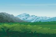 风景背景矢量素材182
