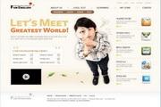 小学英语教育网页设计PSD