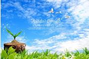 蓝天云彩psd自然景观