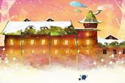 雪地里的城堡PSD卡通素材