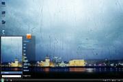 窗外雨景桌面背景主题