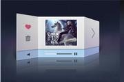 音乐播放器界面设计PSD