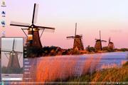 荷兰风景win7主...