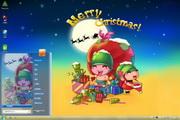 炮炮兵过圣诞win7主题 2012
