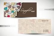 花卉装饰名片设计模板