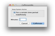 CaffeinateMe For Mac