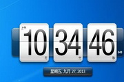 HTC手机的桌面钟...