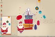 快乐圣诞剪纸win7主题