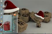 小盒子送礼物win7主题