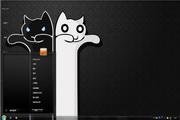 黑白无常猫win7主题