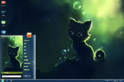 梦幻猫咪win7主题