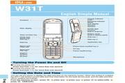 东芝W31T手机使用说明书