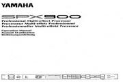 雅马哈SPX900声乐处理器说明书