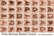 Free Bronze Button Icons 2013.1