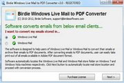 Windows Live Mail Export to PDF