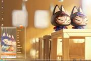 卡通动漫拽猫win7主题
