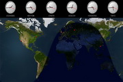 Solar World Clock