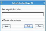 Portable Restore Point Creator 4.0 Build 1