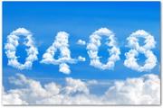 Blue Clouds Clock Screensaver 1.0