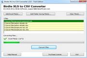 Birdie XLS to CSV Converter 6.9