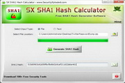 SX SHA1 Hash Calculator 1.1
