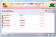 Yahoo Password Decryptor