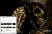 Scary Dark Skulls Windows 7 Theme