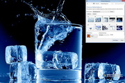 Ice in Water Windows 7 Theme