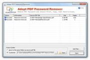 Adept PDF Password Remover 3.40